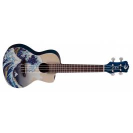 Luna Guitars Great Wave Concert Ukulele Graphic
